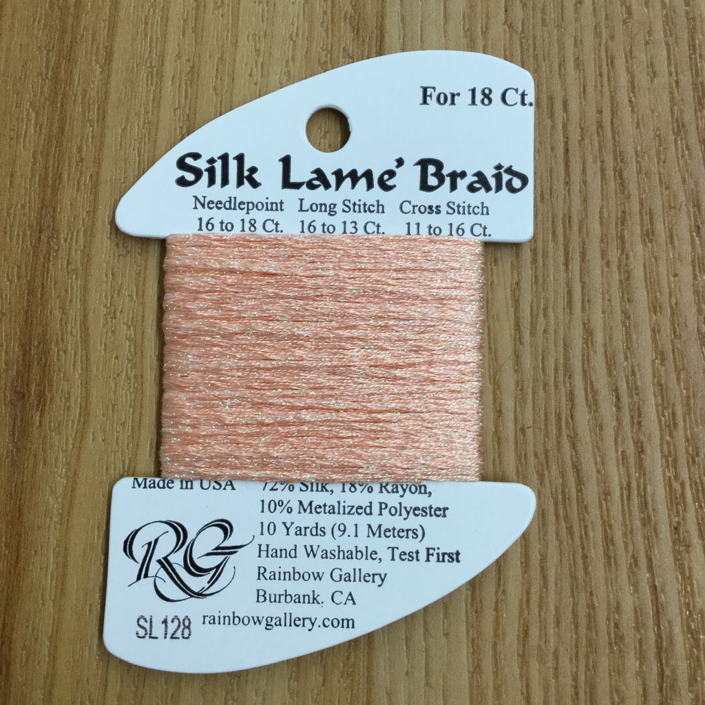 Silk Lamé Braid SL128 Crab Bisque