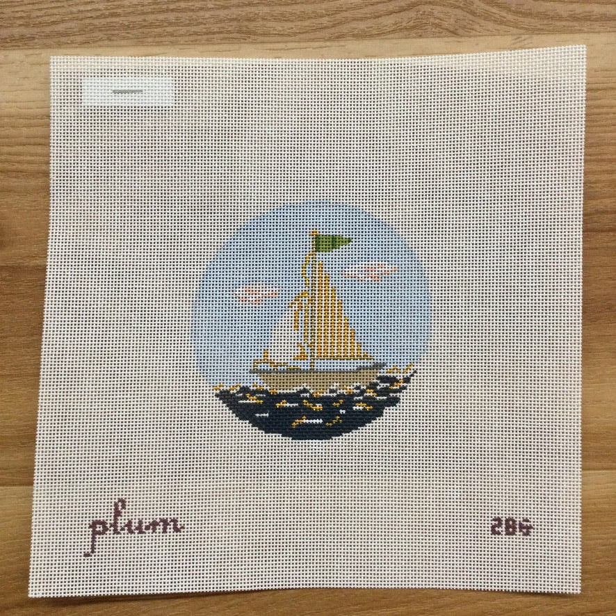 Ship Round Canvas