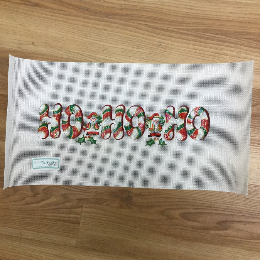 Ho Ho Ho Canvas - needlepoint