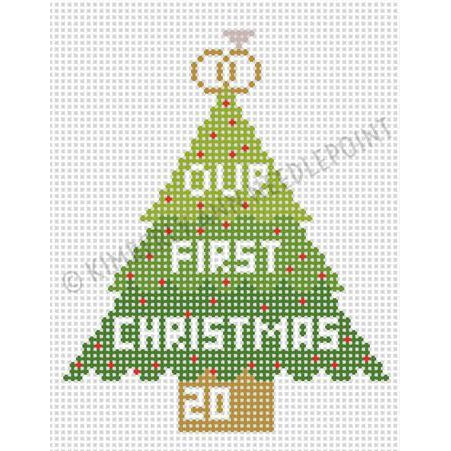 Our 1st Christmas Canvas-Needlepoint Canvas-Kimberly Ann Needlepoint-KC Needlepoint