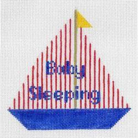Baby Sleeping Sailboat Canvas-Needlepoint Canvas-The Collection-KC Needlepoint