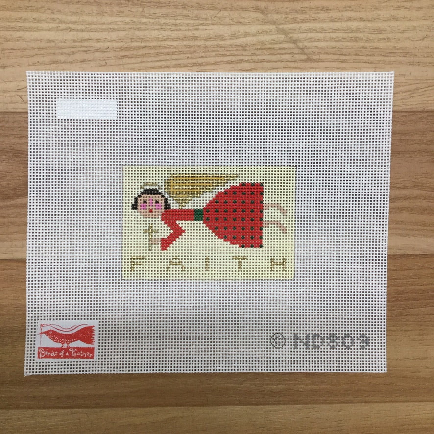 Faith Angel Canvas-Needlepoint Canvas-KC Needlepoint