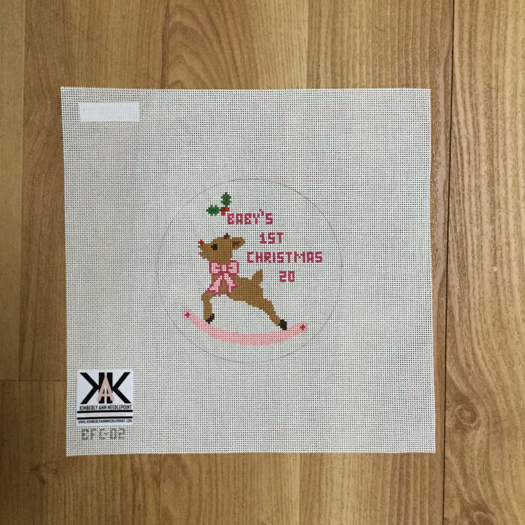 Baby's 1st Christmas Girl Canvas - needlepoint