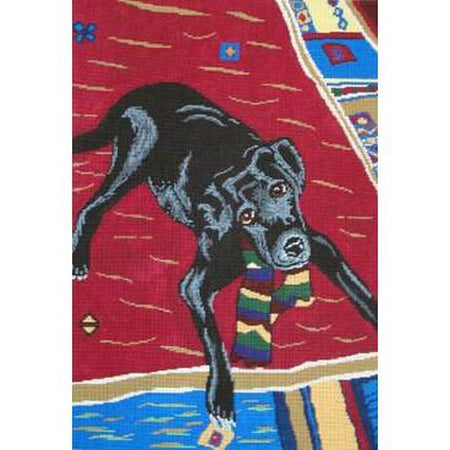 Black Lab, Maggie Canvas-Needlepoint Canvas-Patti Mann-18 mesh-KC Needlepoint