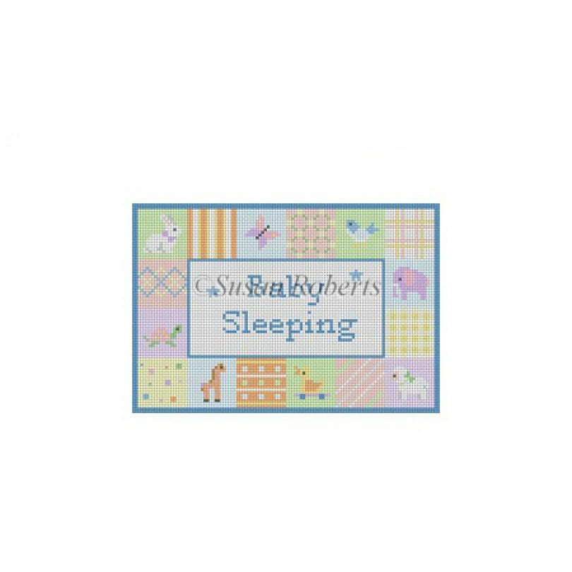 Patches Baby Sleeping Canvas-Needlepoint Canvas-Susan Roberts-KC Needlepoint