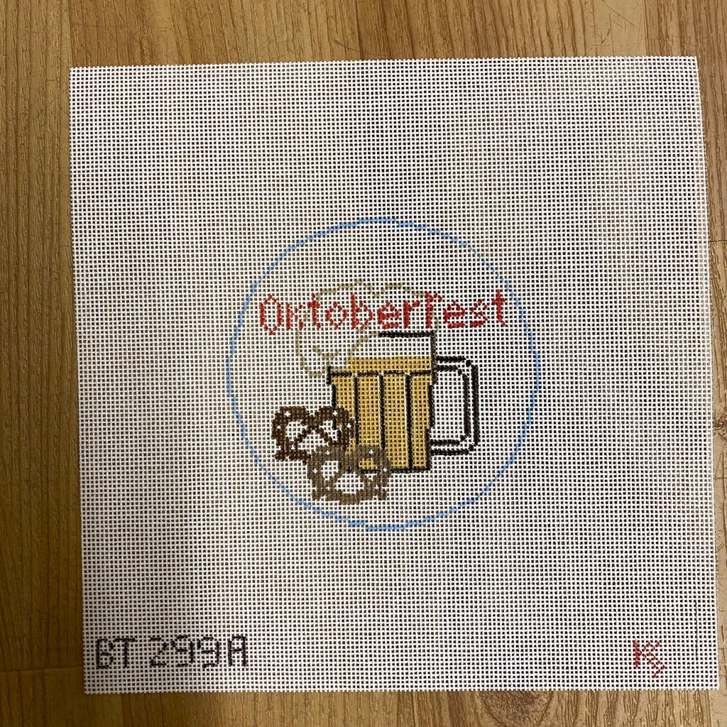 Oktoberfest Travel Round Canvas-Needlepoint Canvas-KC Needlepoint