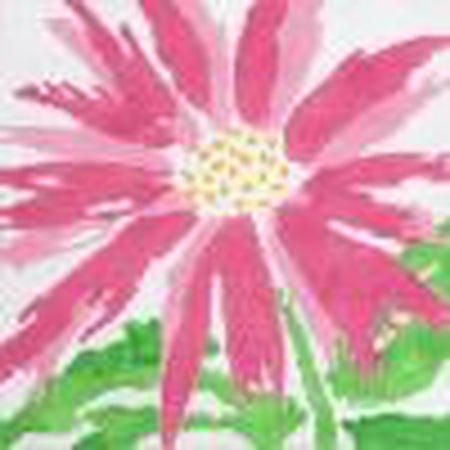 Medium Pink Splash Flower Canvas - KC Needlepoint