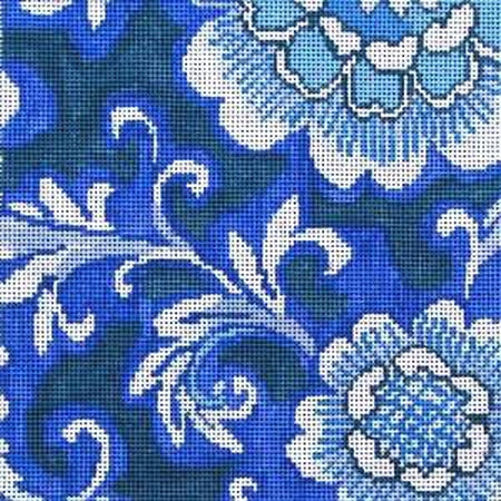Porcelain Floral Two Canvas - needlepoint