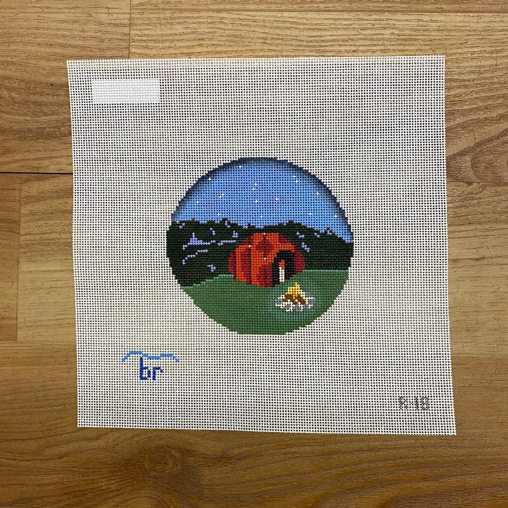 Campfire's Starry Night Canvas - needlepoint