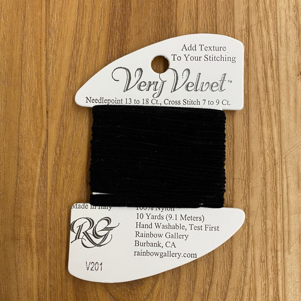 Very Velvet V201 Black - KC Needlepoint
