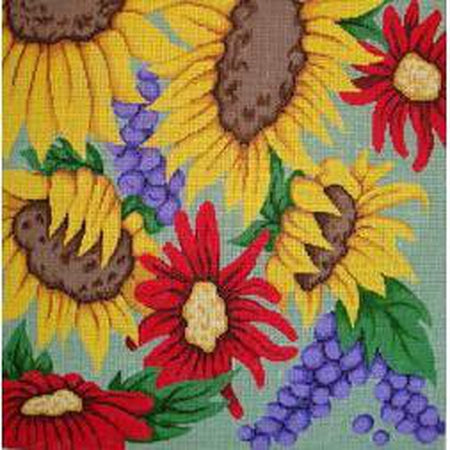 Sunflowers and Gerberas Canvas-Needlepoint Canvas-Patti Mann-KC Needlepoint