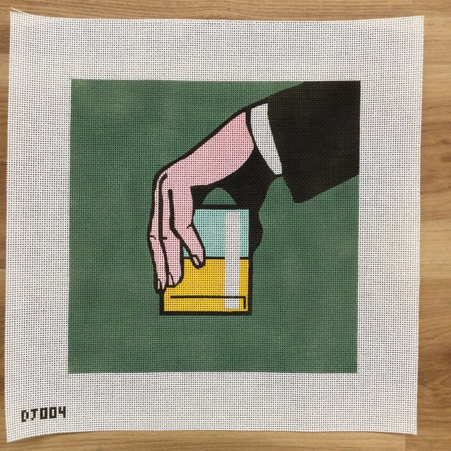 Just One Drink Canvas - KC Needlepoint