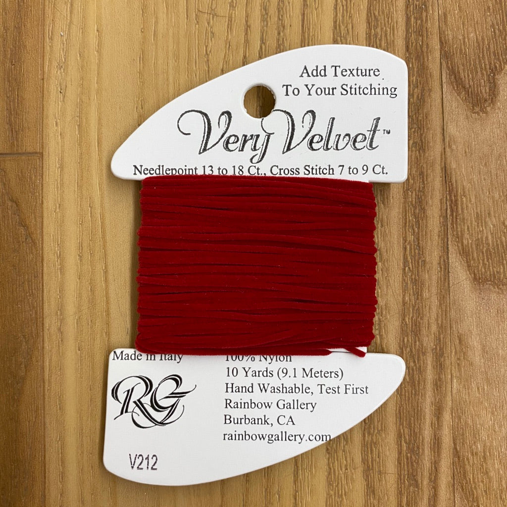Very Velvet V212 Cherry Red - KC Needlepoint