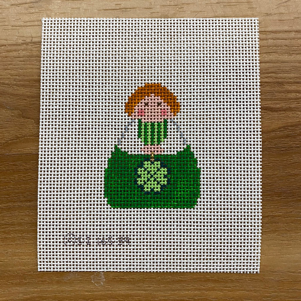 Green Angel with Shamrock Canvas - KC Needlepoint
