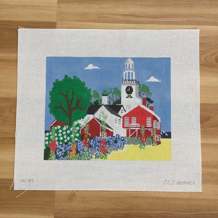 Nantucket Scene Needlepoint Canvas