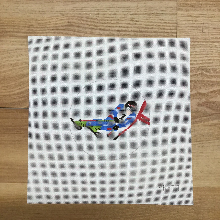 Ski Racer Canvas - needlepoint