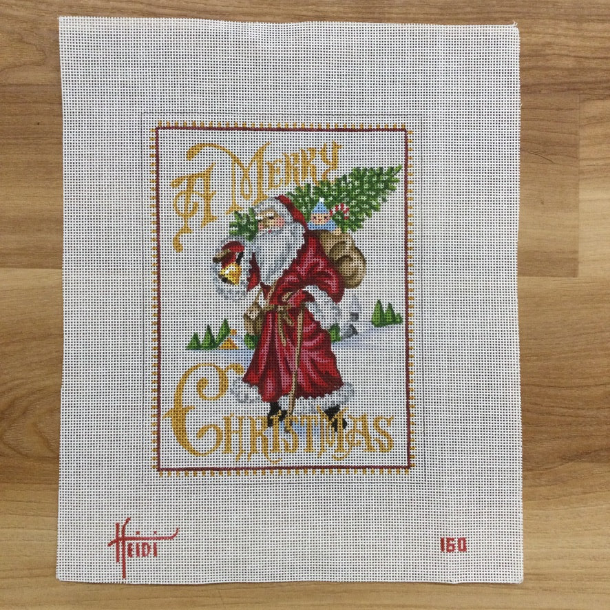 A Merry Christmas Canvas - needlepoint