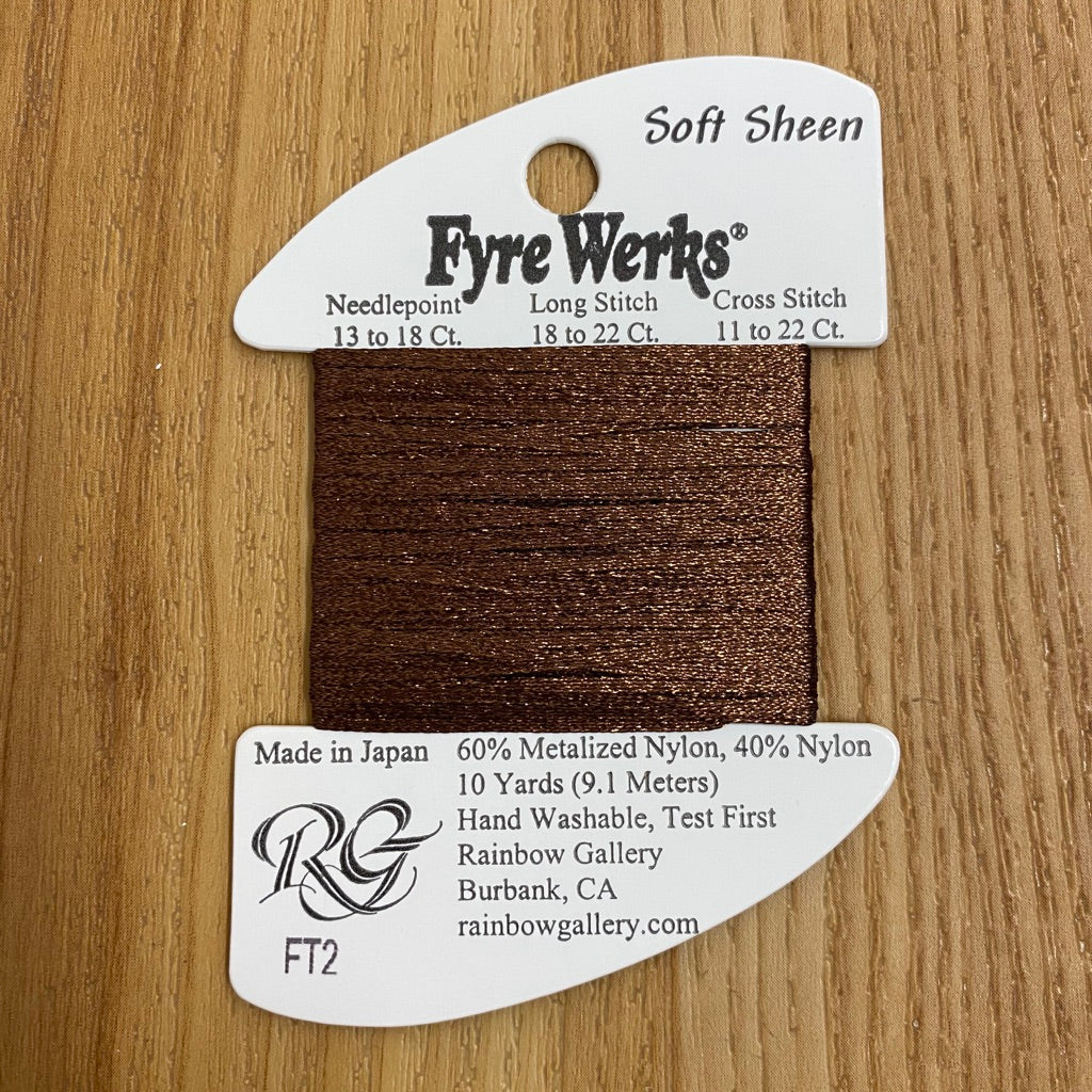 Fyre Werks Soft Sheen FT2 Chocolate - needlepoint