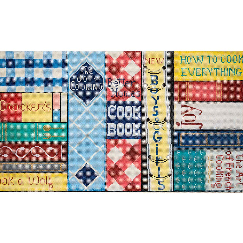 Cookbooks Canvas-Needlepoint Canvas-Alice Peterson-KC Needlepoint
