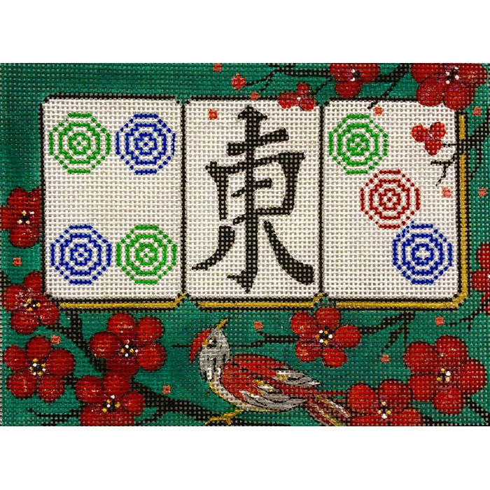 Cherry Blossom Mah jongg Canvas-Needlepoint Canvas-Alice Peterson-KC Needlepoint