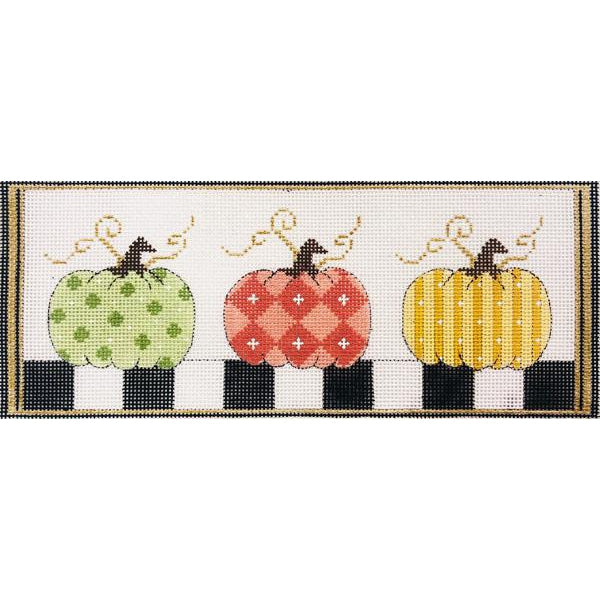 Pumpkins in a Row Canvas-Needlepoint Canvas-Alice Peterson-KC Needlepoint