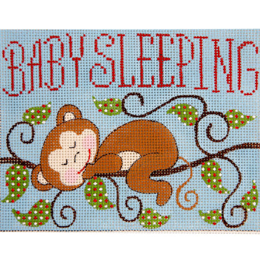 Baby Monkeys Sleeping Canvas-Needlepoint Canvas-Alice Peterson-KC Needlepoint