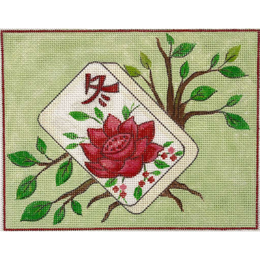 Floral Mah Jongg Canvas - needlepoint
