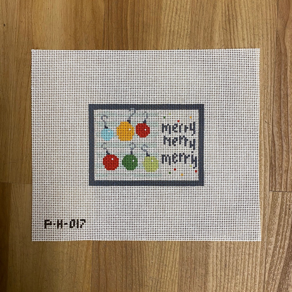 Merry Merry Merry Canvas - KC Needlepoint