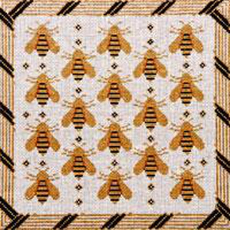 Bees Needlepoint Canvas - KC Needlepoint