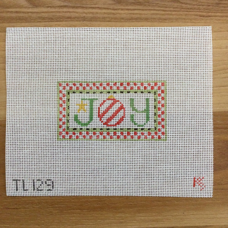 Joy Tiny Inspiration Canvas - needlepoint