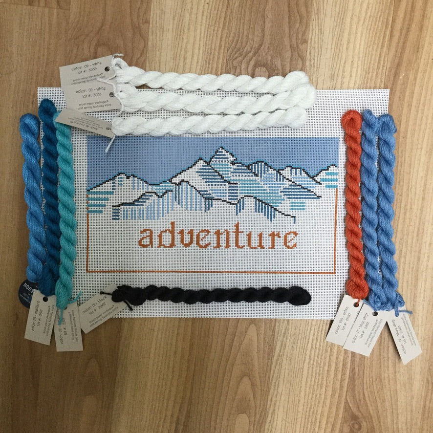 Adventure Needlepoint Kit - needlepoint