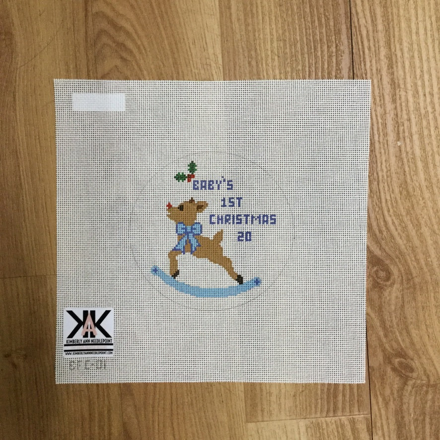 Baby's 1st Christmas Boy Canvas - needlepoint