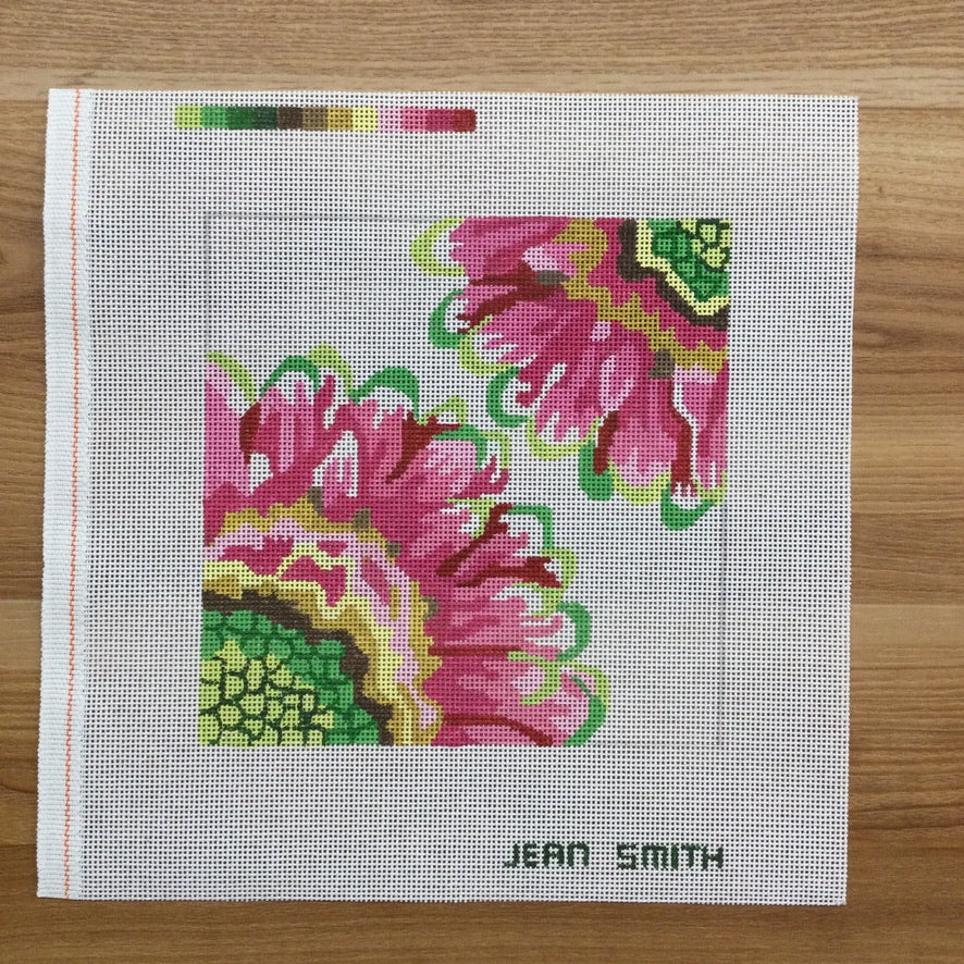 Small Pastel Beauty Needlepoint Canvas - needlepoint
