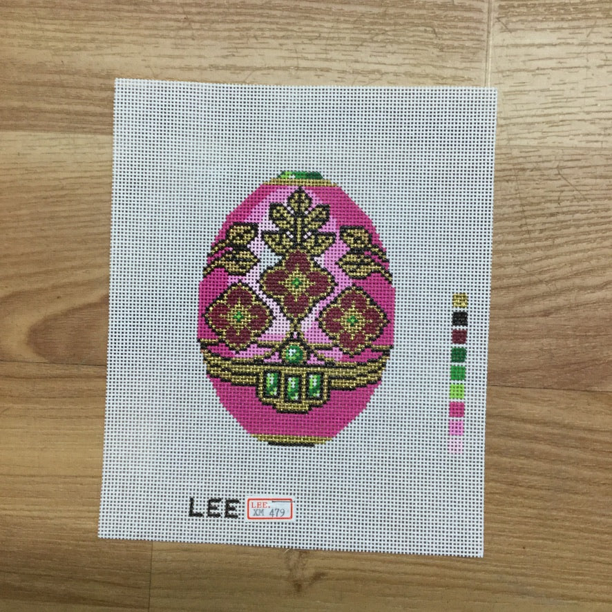 Pink with Pink Faberge Canvas-Needlepoint Canvas-Lee Needle Arts-KC Needlepoint