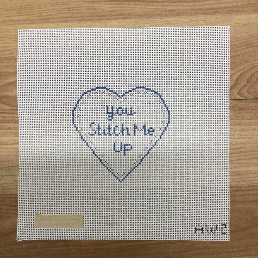Stitch Me Up Heart Needlepoint Canvas