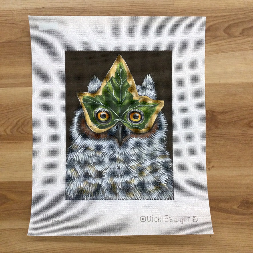 Heidi the Owl Needlepoint Canvas