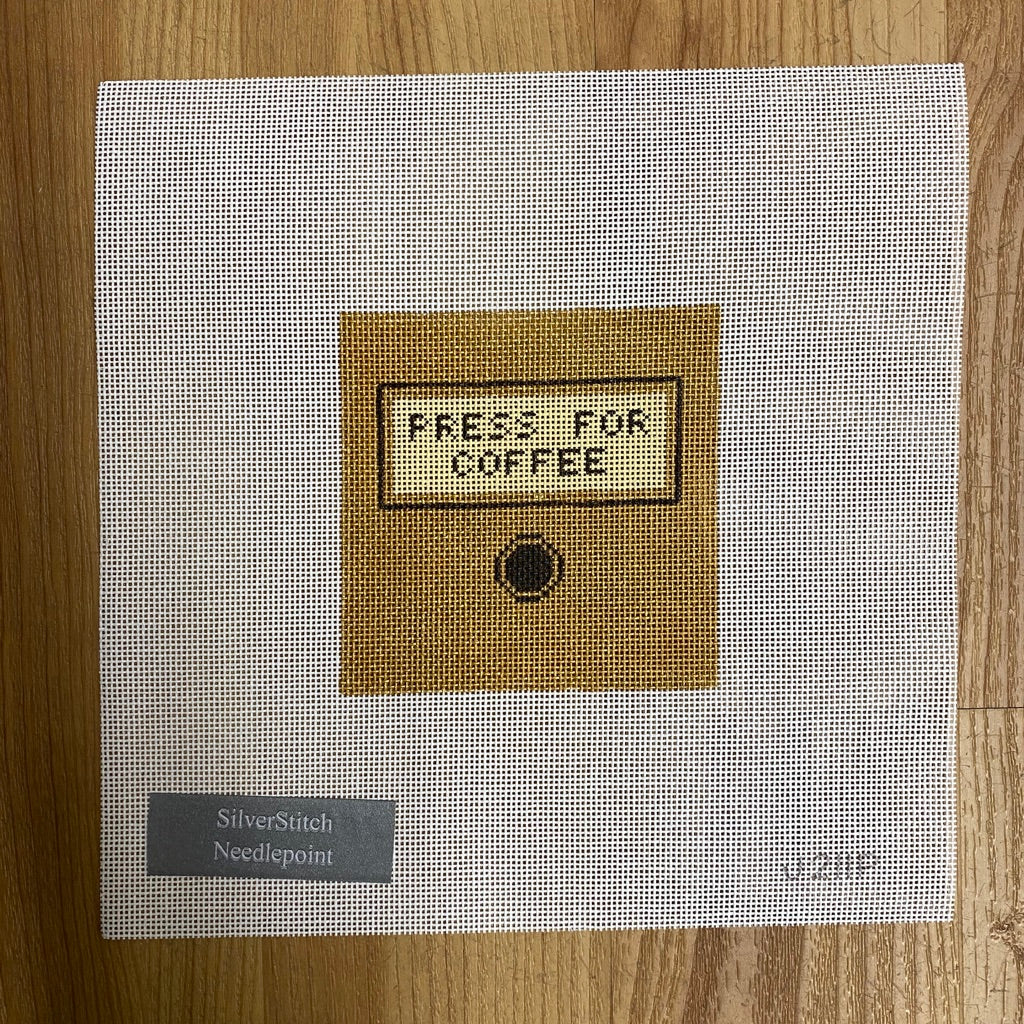 Press for Coffee Canvas-Needlepoint Canvas-KC Needlepoint