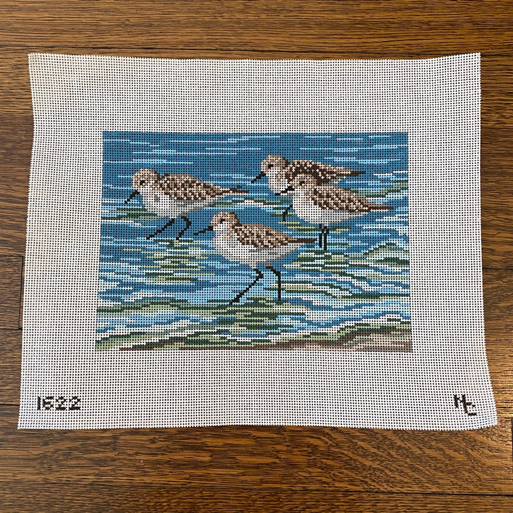 Sanderlings Canvas - KC Needlepoint
