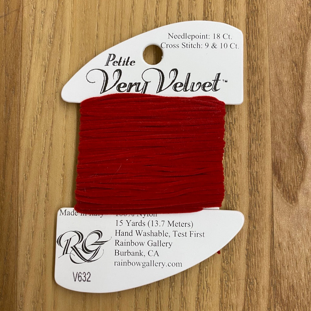 Petite Very Velvet V632 Brite Red - KC Needlepoint