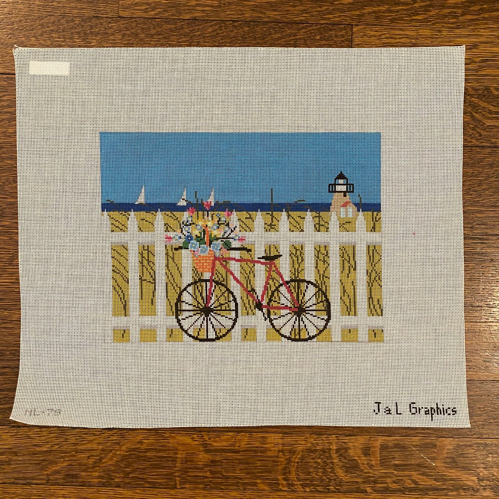 Maine Transportation Needlepoint Canvas