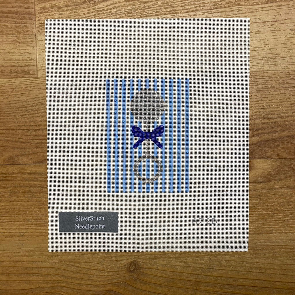 Blue Baby Rattle Canvas