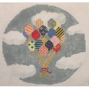 Balloons Round Canvas-Needlepoint Canvas-The Plum Stitchery-KC Needlepoint