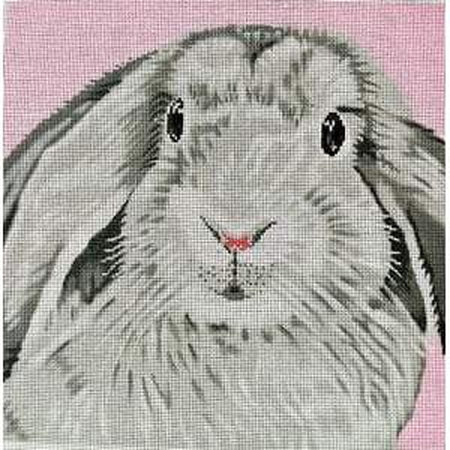 Floppy Bunny Canvas-Needlepoint Canvas-The Meredith Collection-KC Needlepoint