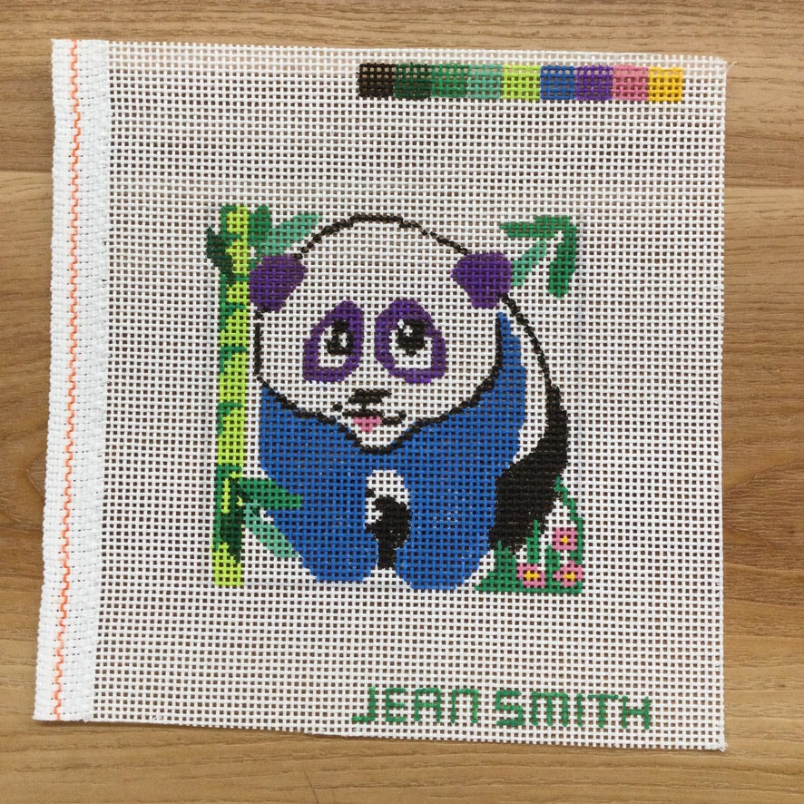 Small Square Panda Canvas