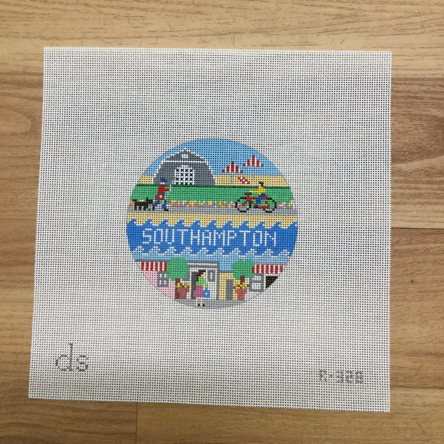 Southhampton Travel Round Needlepoint Canvas-Needlepoint Canvas-Doolittle Stitchery-KC Needlepoint