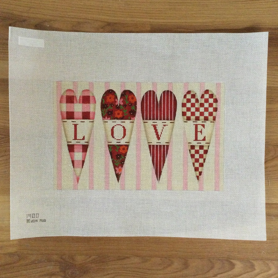 Recipe for Love Needlepoint Canvas - KC Needlepoint