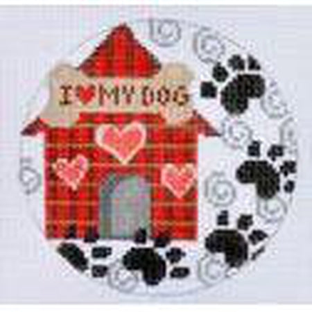 Dog House Ornament Canvas - needlepoint