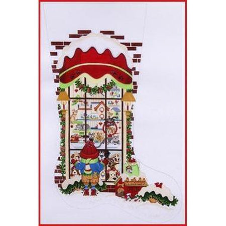Pet Store Stocking Canvas-Needlepoint Canvas-Strictly Christmas-KC Needlepoint