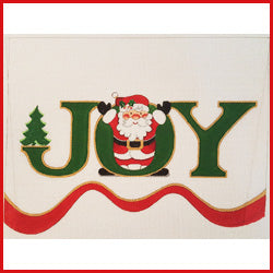 Joy Stocking Topper Canvas - needlepoint