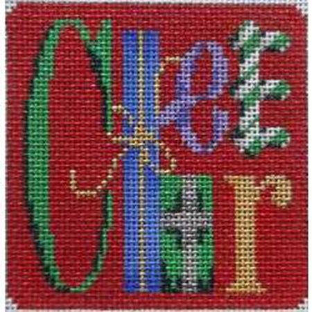 Cheer Square Needlepoint Canvas - needlepoint
